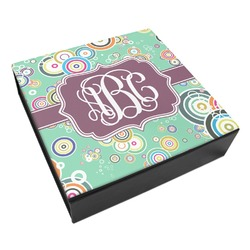 Colored Circles Leatherette Keepsake Box - 3 Sizes (Personalized)
