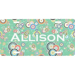 Colored Circles Front License Plate (Personalized)