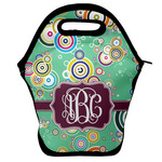 Colored Circles Lunch Bag w/ Monogram