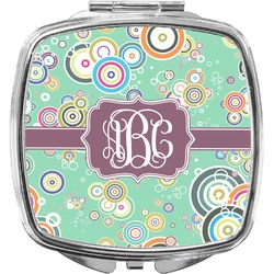 Colored Circles Compact Makeup Mirror (Personalized)