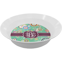 Colored Circles Melamine Bowls (Personalized)