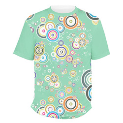Colored Circles Men's Crew T-Shirt (Personalized)