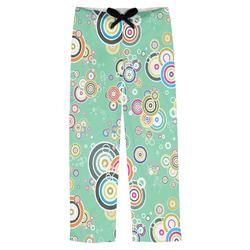 Colored Circles Mens Pajama Pants (Personalized)