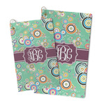 Colored Circles Microfiber Golf Towel (Personalized)