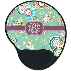 Colored Circles Mouse Pad with Wrist Support