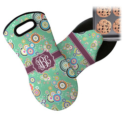 Colored Circles Neoprene Oven Mitt (Personalized)
