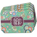 Colored Circles Dining Table Mat - Octagon w/ Monogram