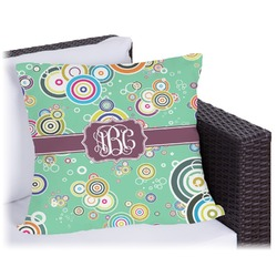 Colored Circles Outdoor Pillow (Personalized)