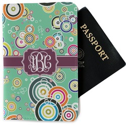 Colored Circles Passport Holder - Fabric (Personalized)