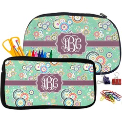 Colored Circles Pencil / School Supplies Bag (Personalized)