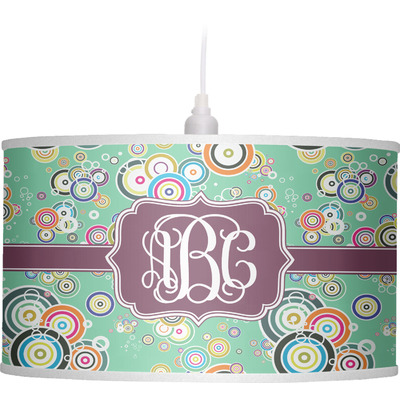 Colored Circles Drum Pendant Lamp (Personalized)