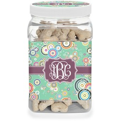 Colored Circles Pet Treat Jar (Personalized)