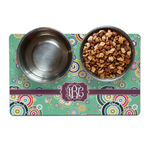 Colored Circles Dog Food Mat (Personalized)