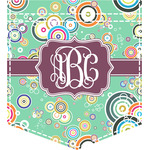 Colored Circles Iron On Faux Pocket (Personalized)