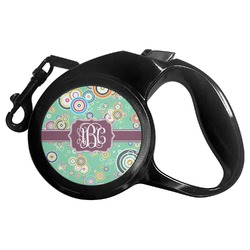 Colored Circles Retractable Dog Leash - Multiple Sizes (Personalized)