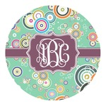 Colored Circles Round Decal (Personalized)