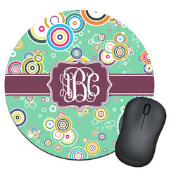Colored Circles Round Mouse Pad (Personalized)