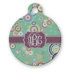 Colored Circles Round Pet Tag (Personalized)