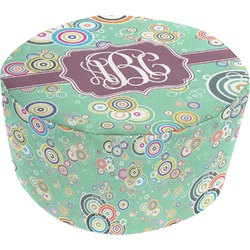 Colored Circles Round Pouf Ottoman (Personalized)