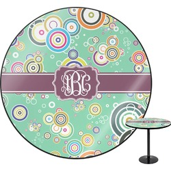 """Colored Circles Round Table - 24"""" (Personalized)"""