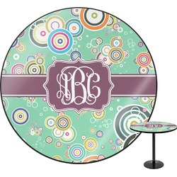 Colored Circles Round Table (Personalized)