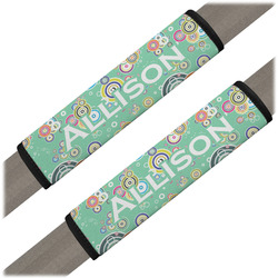 Colored Circles Seat Belt Covers (Set of 2) (Personalized)