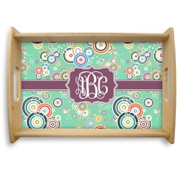 Colored Circles Natural Wooden Tray (Personalized)