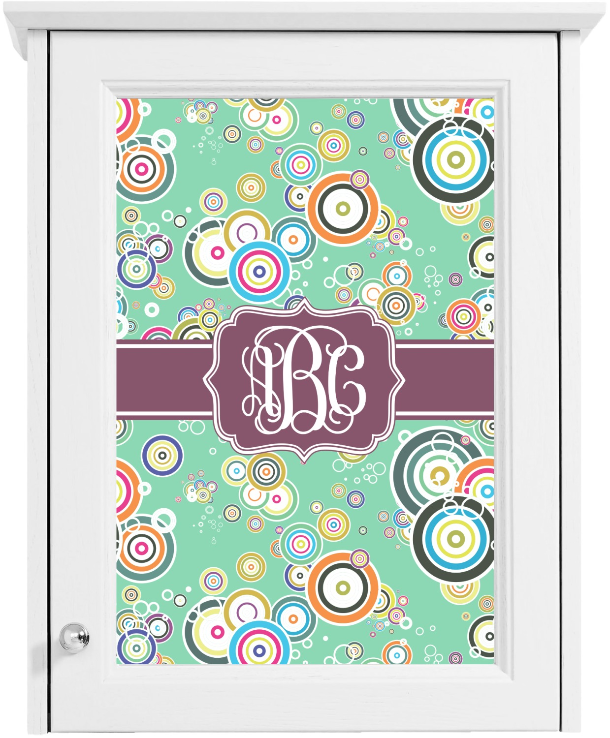 Colored circles cabinet decal small personalized for Kitchen colors with white cabinets with monogram stickers for cups