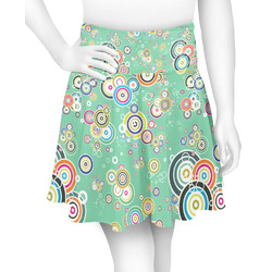 Colored Circles Skater Skirt (Personalized)