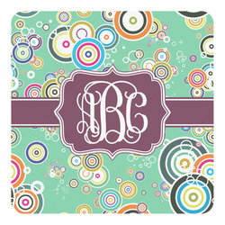 Colored Circles Square Decal (Personalized)