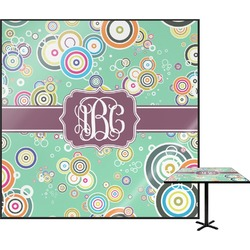 Colored Circles Square Table Top (Personalized)