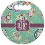 Colored Circles Stadium Cushion (Round) (Personalized)
