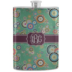 Colored Circles Stainless Steel Flask (Personalized)