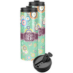Colored Circles Stainless Steel Skinny Tumbler (Personalized)
