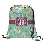 Colored Circles Drawstring Backpack (Personalized)