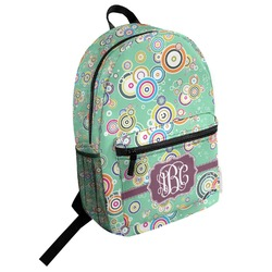 Colored Circles Student Backpack (Personalized)