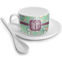 Colored Circles Tea Cups (Personalized)