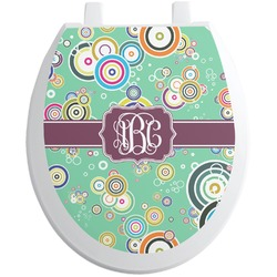 Colored Circles Toilet Seat Decal (Personalized)