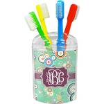Colored Circles Toothbrush Holder (Personalized)