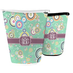 Colored Circles Waste Basket (Personalized)