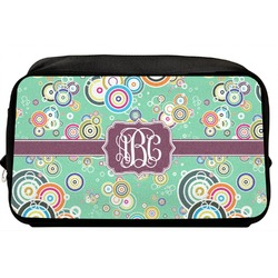 Colored Circles Toiletry Bag / Dopp Kit (Personalized)