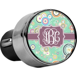 Colored Circles USB Car Charger (Personalized)
