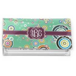 Colored Circles Vinyl Checkbook Cover (Personalized)