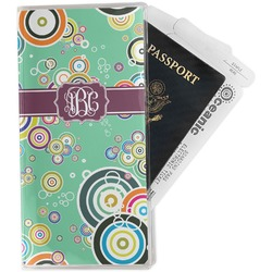 Colored Circles Travel Document Holder