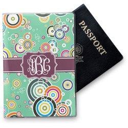 Colored Circles Vinyl Passport Holder (Personalized)