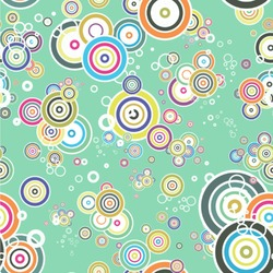 Colored Circles Wallpaper & Surface Covering