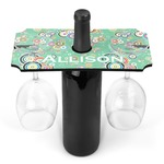 Colored Circles Wine Bottle & Glass Holder (Personalized)
