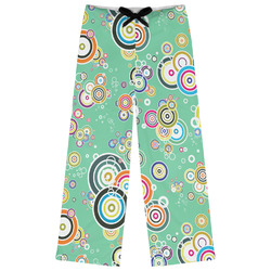 Colored Circles Womens Pajama Pants (Personalized)