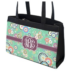 Colored Circles Zippered Everyday Tote (Personalized)