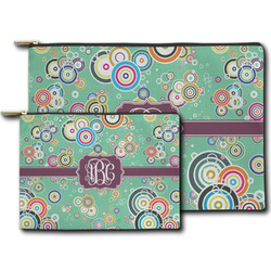 Colored Circles Zipper Pouch (Personalized)